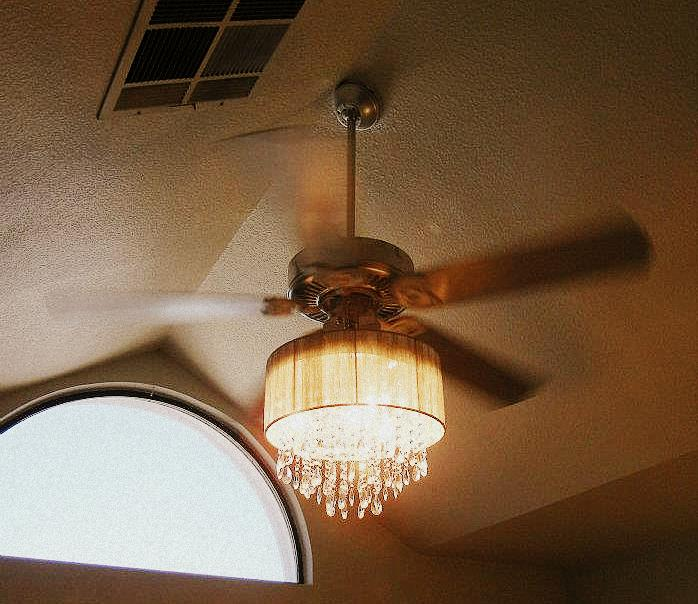 ceiling fan and chandelier photo - 6