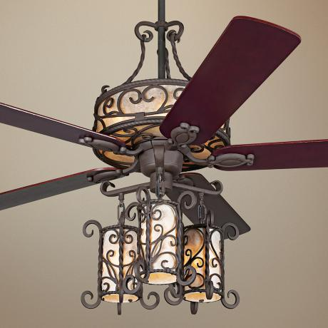 ceiling fan chandelier light photo - 1