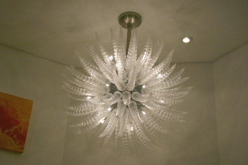 ceiling fan chandelier light photo - 10