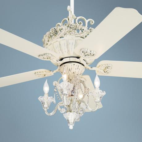 ceiling fan chandelier light photo - 4