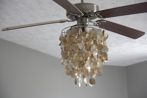 ceiling fan chandelier light photo - 8