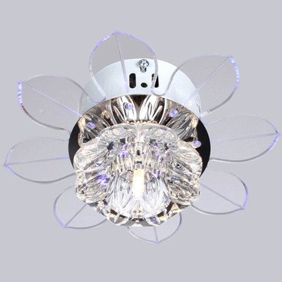 ceiling fan crystal chandelier photo - 1