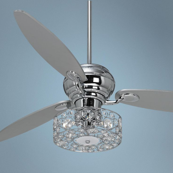 ceiling fan crystal chandelier photo - 10