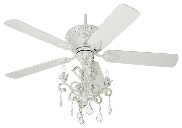 ceiling fan crystal chandelier photo - 6