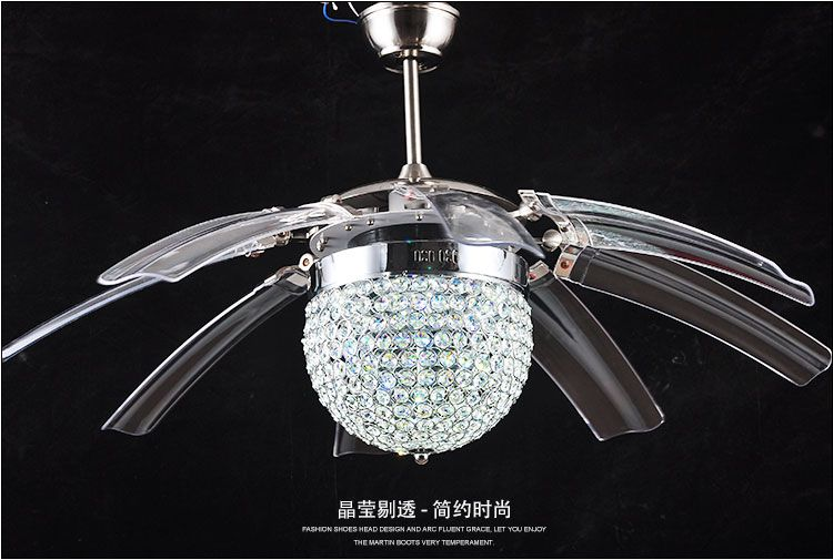 Ceiling fan crystal chandelier | Warisan Lighting