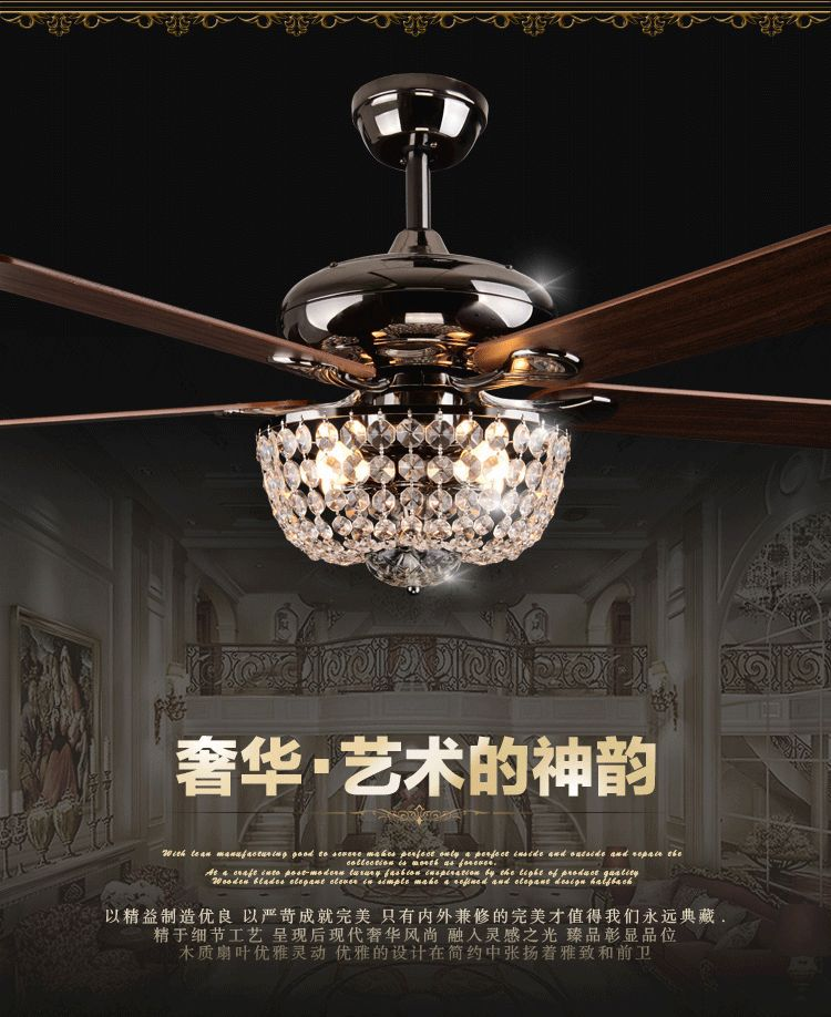 Ceiling Fan Crystal Chandelier Warisan Lighting