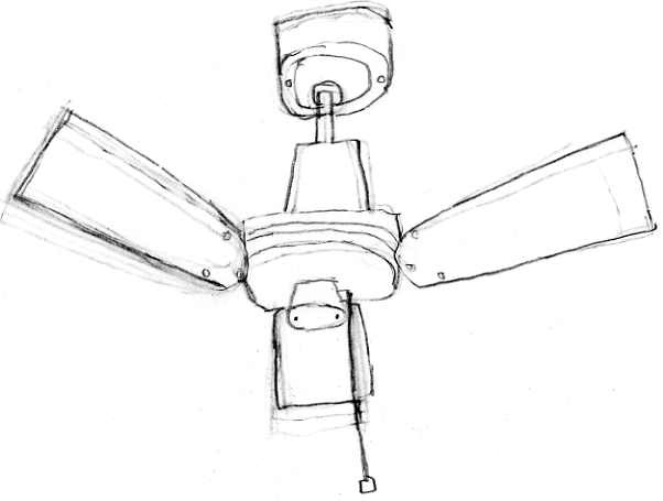 Ceiling Fan Drawing Photo