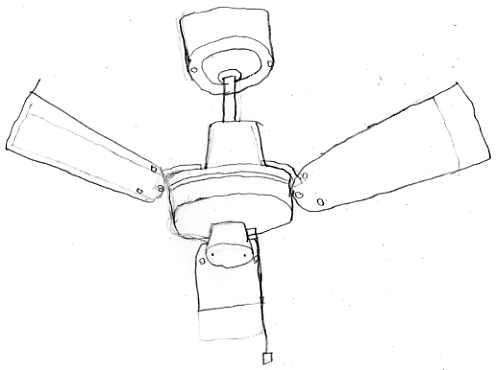 ceiling fan drawing photo - 7