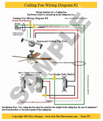 ceiling fan electrical wiring photo - 6