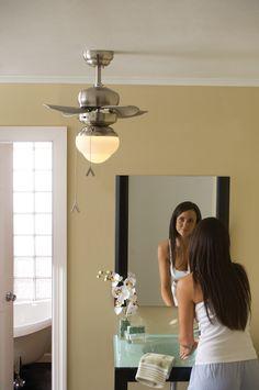 Bath Ceiling Fan: ... ceiling fan for bathroom warisan lighting ...,Lighting