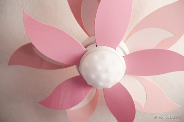 ceiling fan for girls room photo - 2