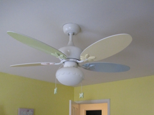 ceiling fan for girls room photo - 3