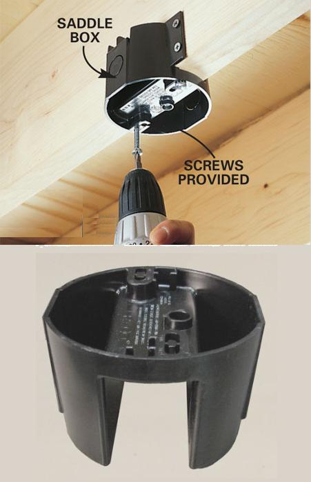 ceiling fan junction box - light and aerate your house at no extra