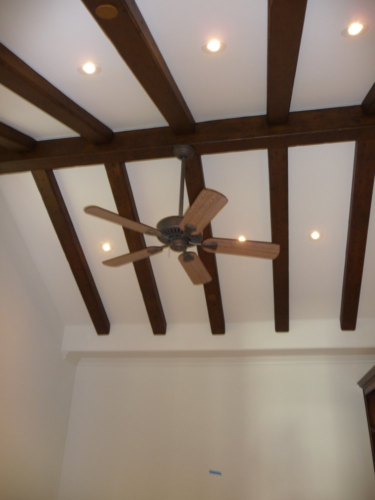 ceiling fan on vaulted ceiling photo - 10