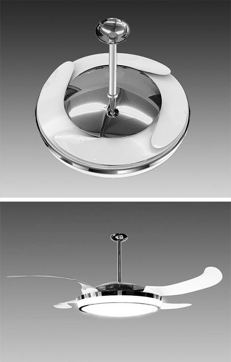 ceiling fan retractable blades photo - 5