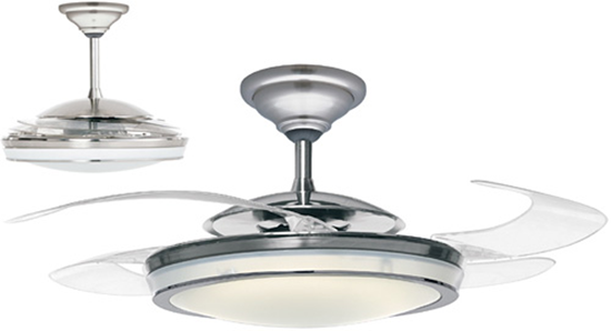 ceiling fan retractable blades photo - 8