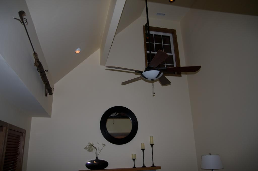 ceiling fan sloped ceiling photo - 5