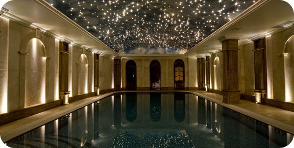 ceiling fibre optic lights photo - 2