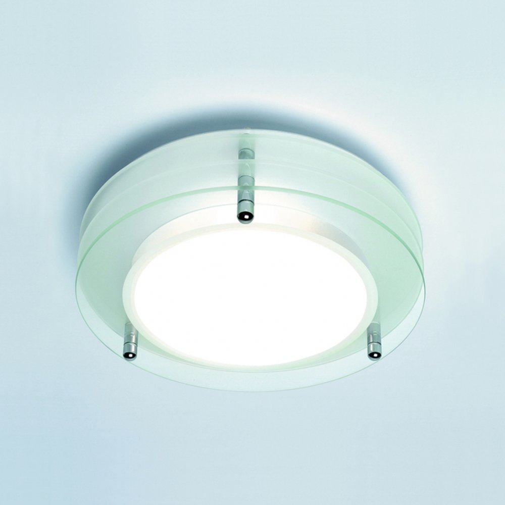 ceiling glass lights photo - 1