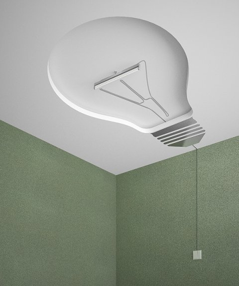 ceiling light bulb photo - 1