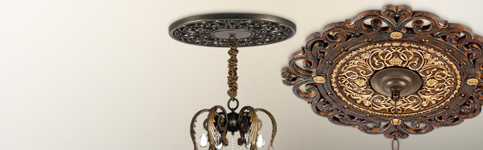 ceiling light medallions photo - 1