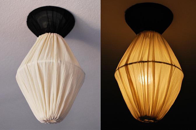 ceiling light shade diy photo - 4