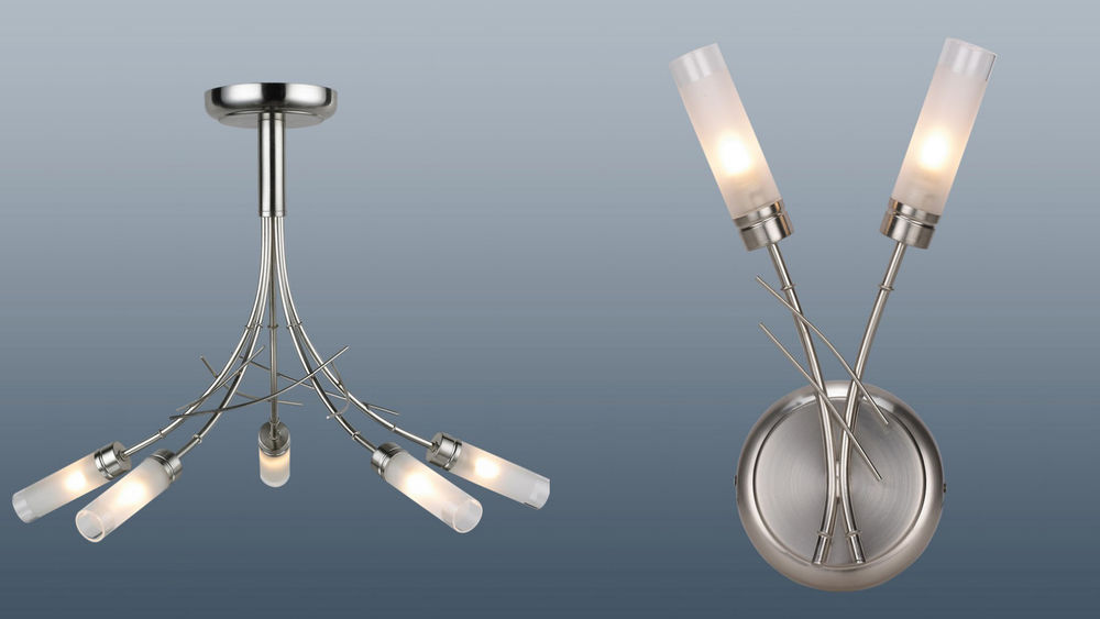 ceiling lights with matching wall lights photo - 3