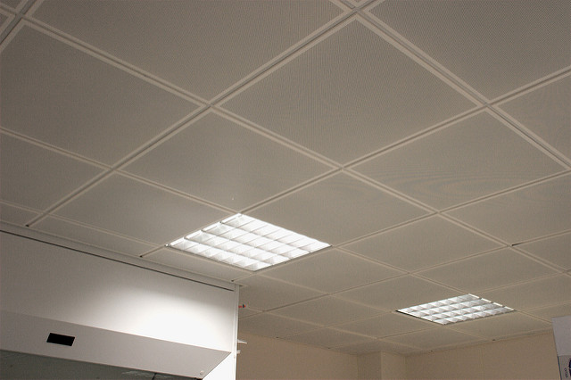 ceiling tiles lights photo - 1