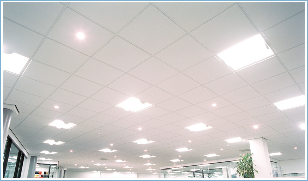 ceiling tiles lights photo - 2