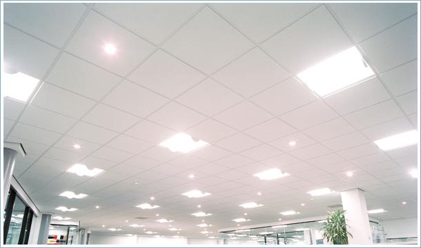 ceiling tiles lights photo - 2