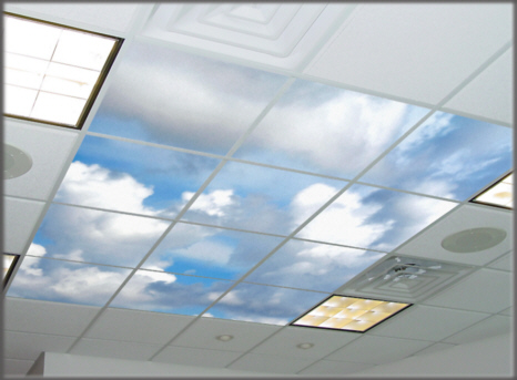 ceiling tiles lights photo - 5