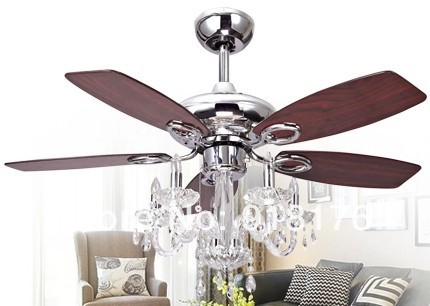 chandelier ceiling fan light photo - 1