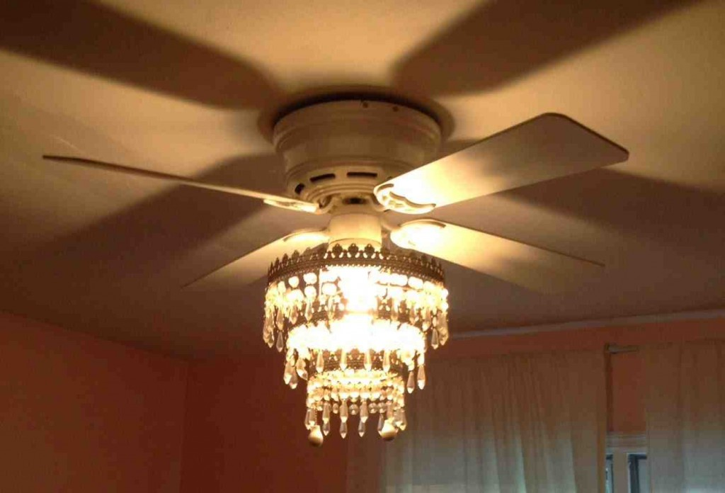 chandelier ceiling fan light photo - 7