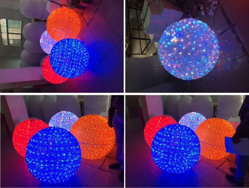 christmas ball lights outdoor photo - 7