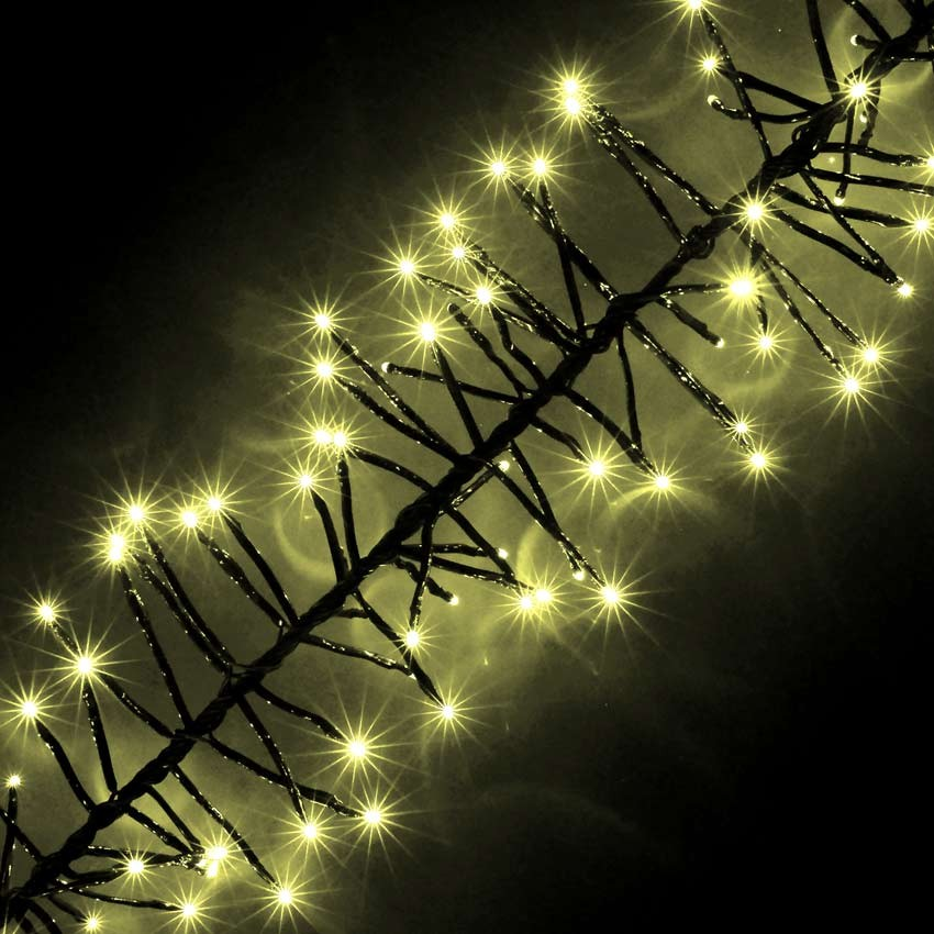 christmas cluster lights outdoor photo 2