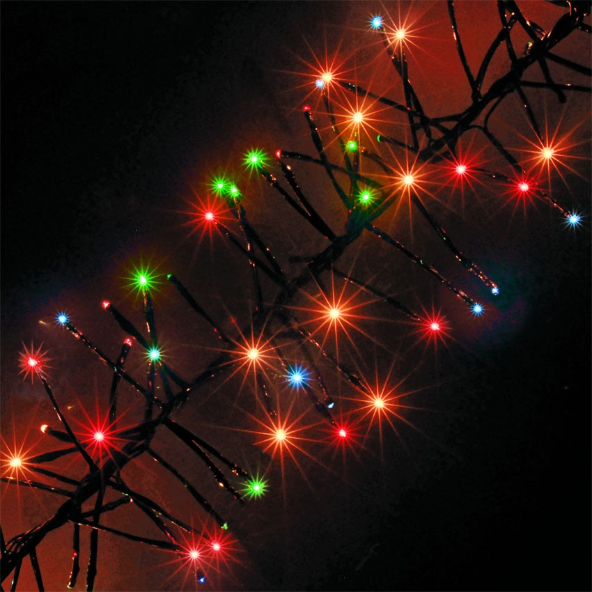 christmas cluster lights outdoor photo - 7