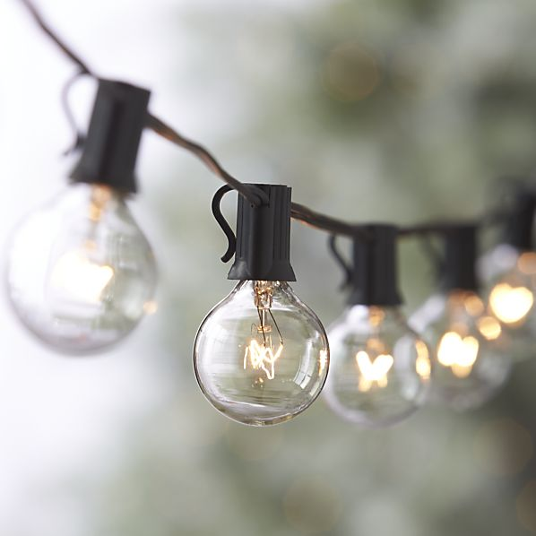 christmas globe lights outdoor photo - 3