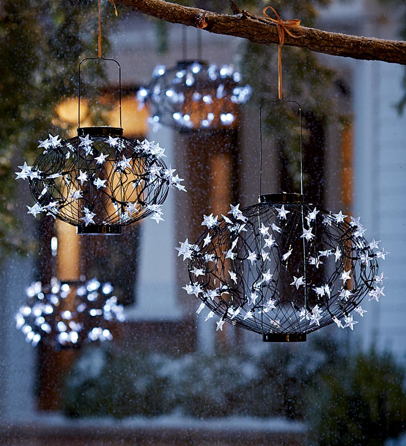 christmas light balls outdoors photo - 6