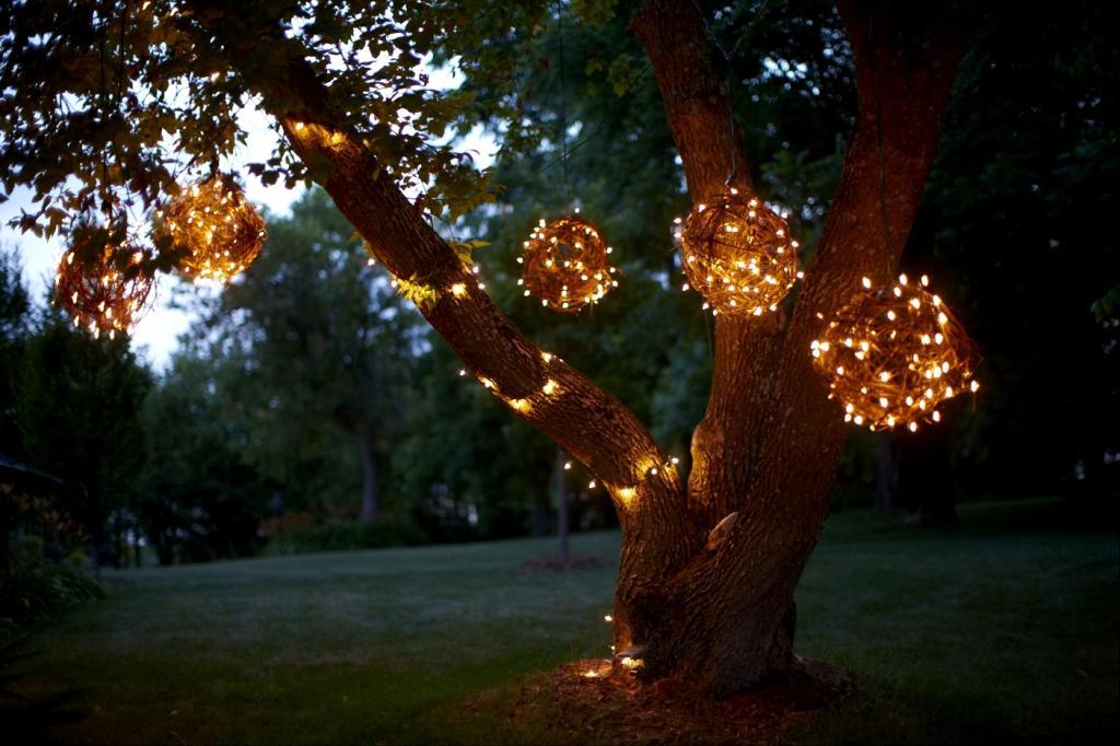 christmas light balls outdoors photo - 7