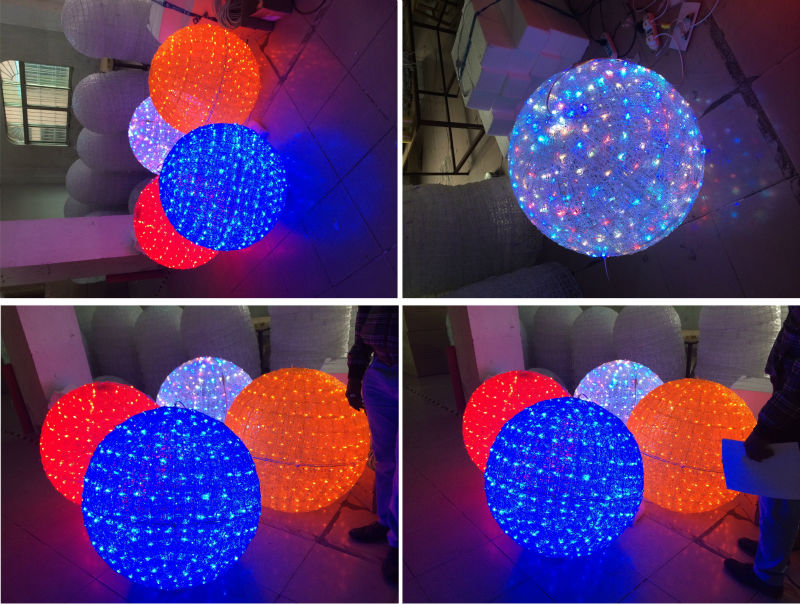 christmas light balls outdoors photo - 8