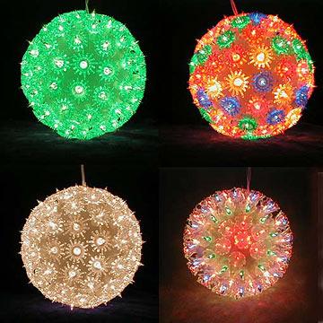 christmas light balls outdoors photo - 9