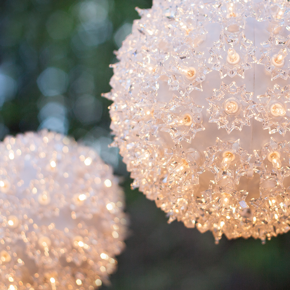 christmas light spheres outdoor photo 3