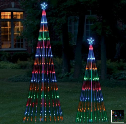 christmas lights outdoor trees photo - 7