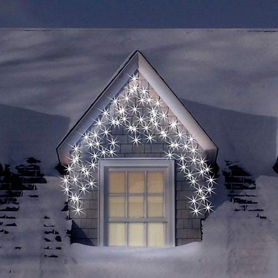 christmas outdoor icicle lights photo - 1