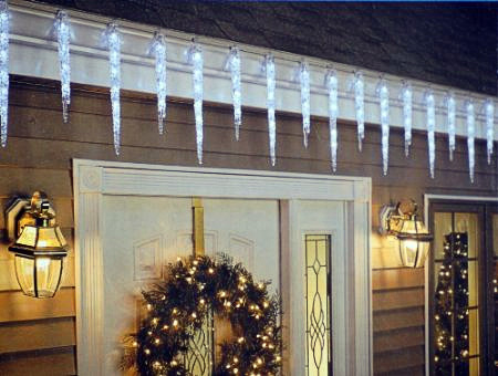 christmas outdoor icicle lights photo - 10