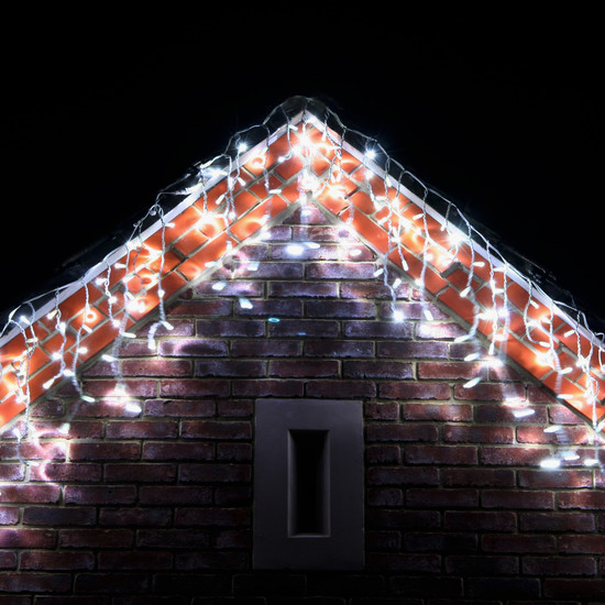 Christmas outdoor icicle lights liven your home with holiday mood christmas outdoor icicle lights photo 4 aloadofball Choice Image