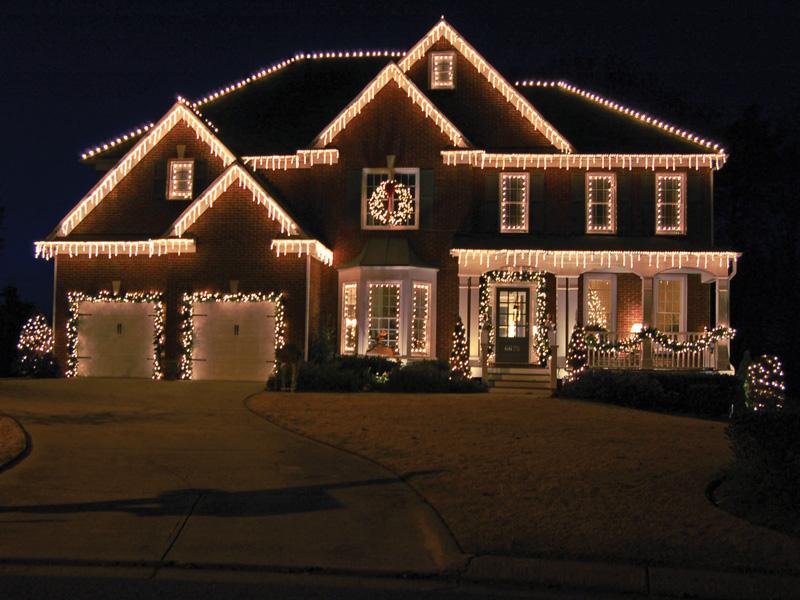 christmas outdoor icicle lights photo - 7