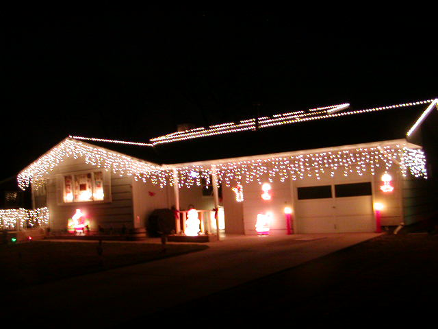 christmas outdoor icicle lights photo - 8