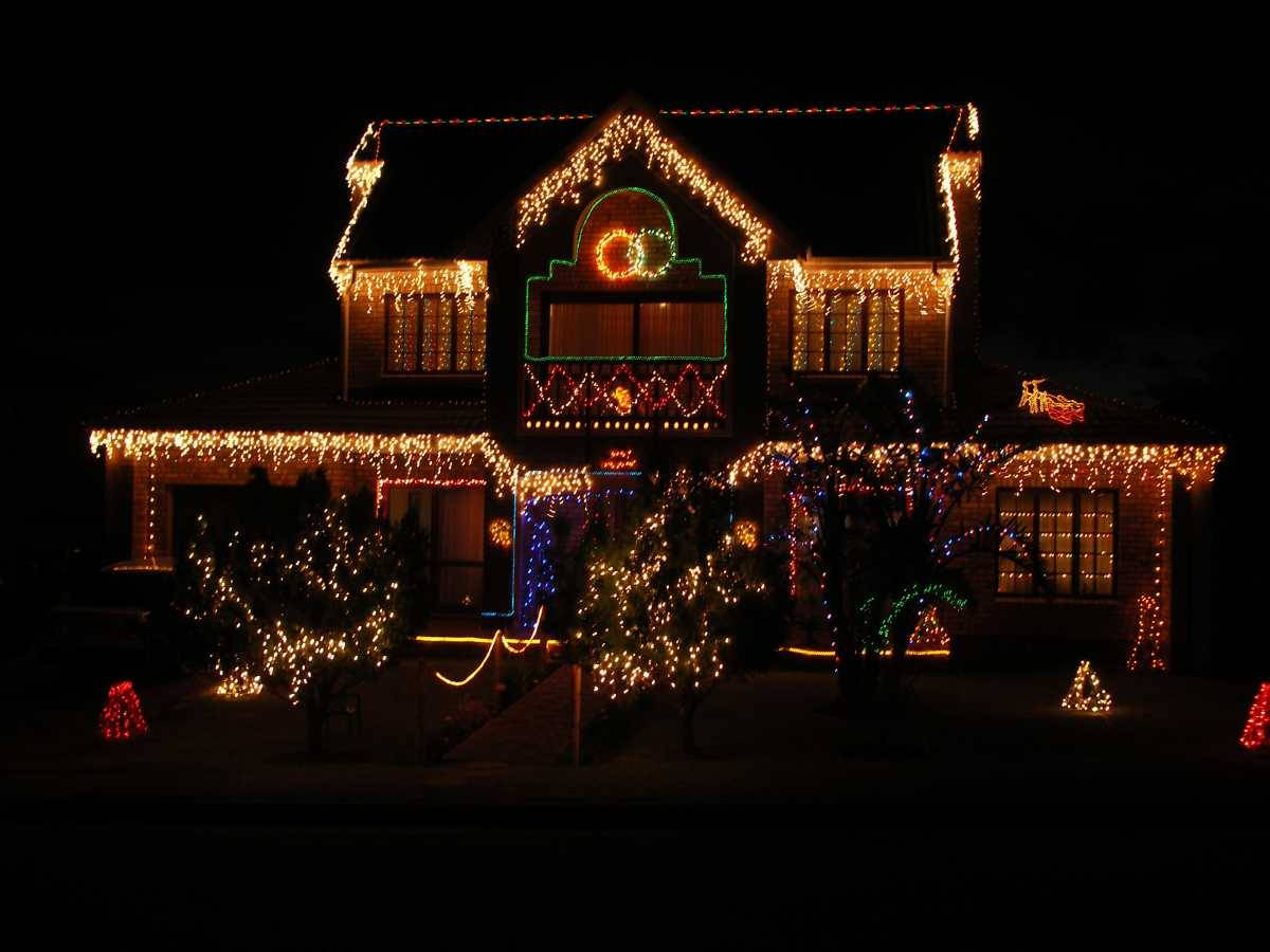 christmas outdoor light photo - 1