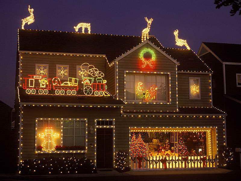 christmas outdoor light photo - 5